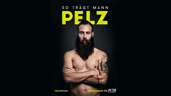 Marco Sailer – so trägt man Pelz (PETA)
