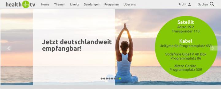 """health tv – """"Mehr wissen. Gesünder leben"""""""