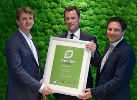 EXYTRON GmbH ist Preisträger 2016 des GreenTec Awards in der Kategorie Start-up
